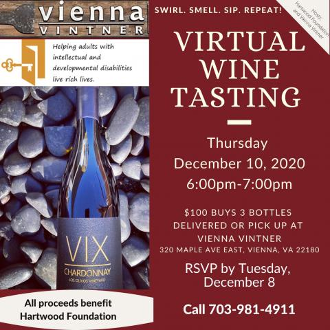Virtual Wine Tasting event (text is same as PDF)
